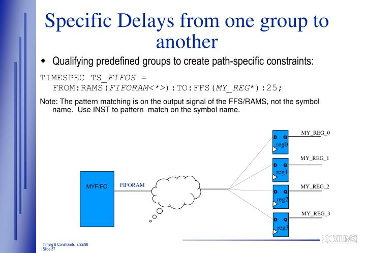 Specific Delays from one group to another