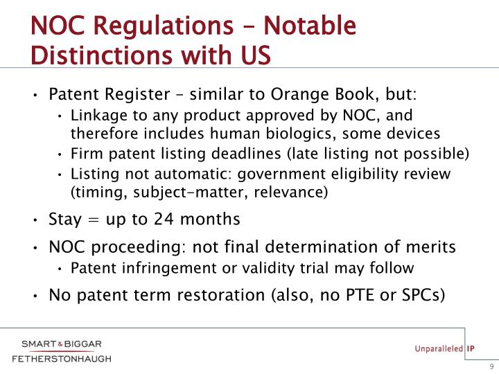 NOC Regulations – Notable Distinctions with US