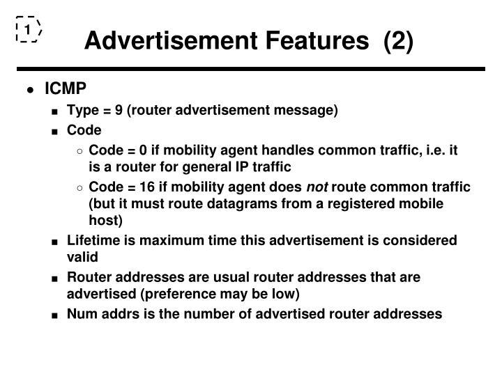 Advertisement Features  (2)