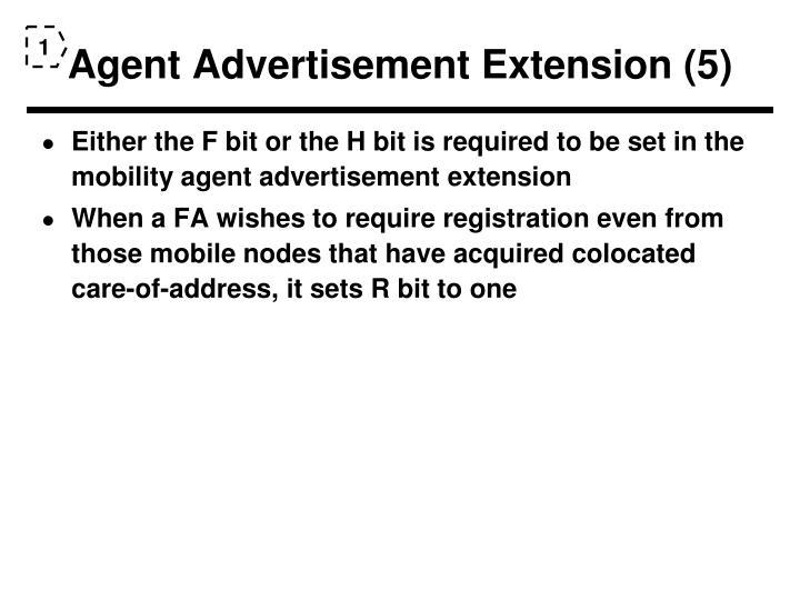 Agent Advertisement Extension (5)