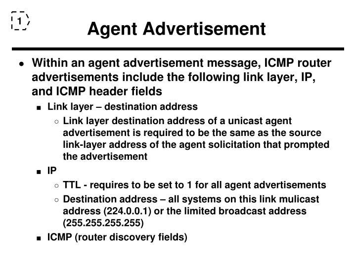 Agent Advertisement