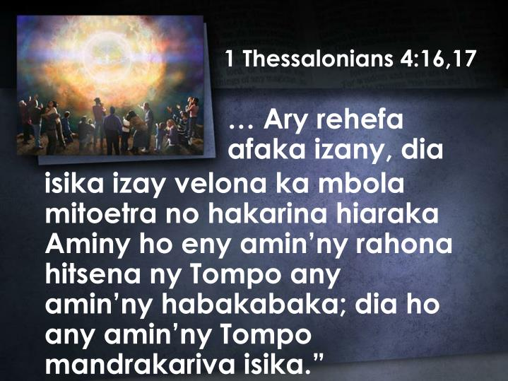 1 Thessalonians 4:16,17