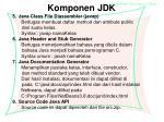 komponen jdk2