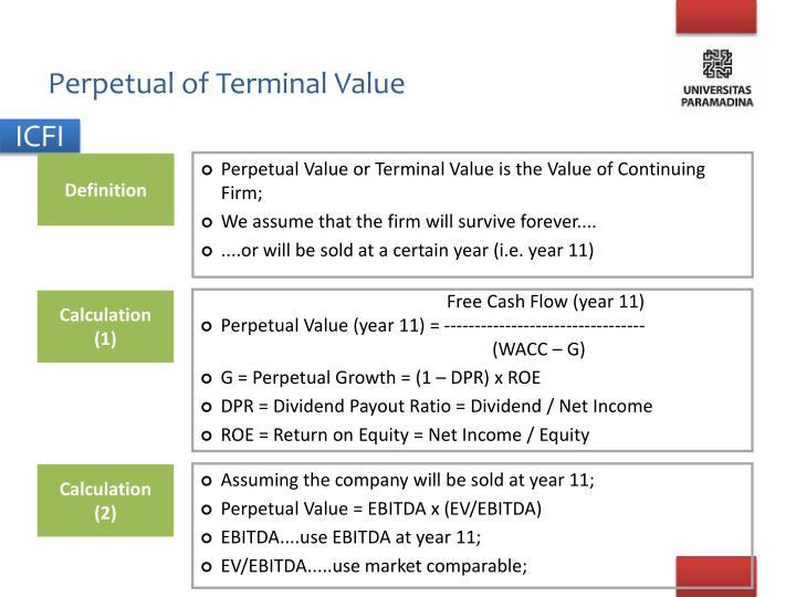 Perpetual of Terminal Value