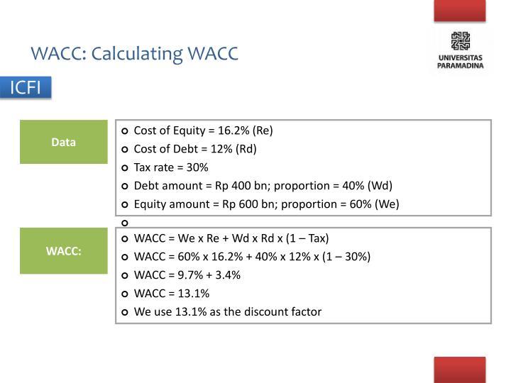 WACC: Calculating WACC