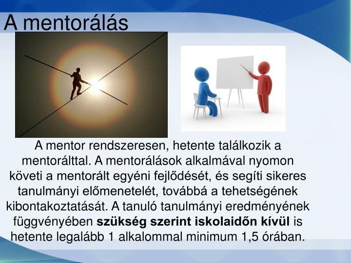 A mentorálás