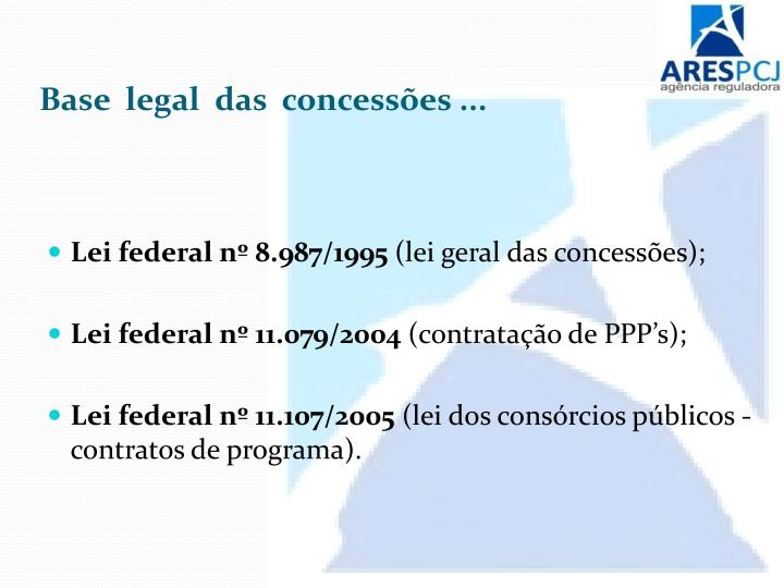 Base  legal  das  concessões ...