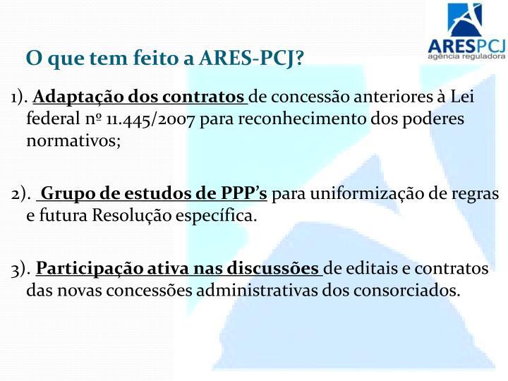 O que tem feito a ARES-PCJ?