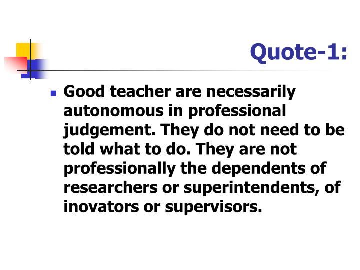 Quote-1: