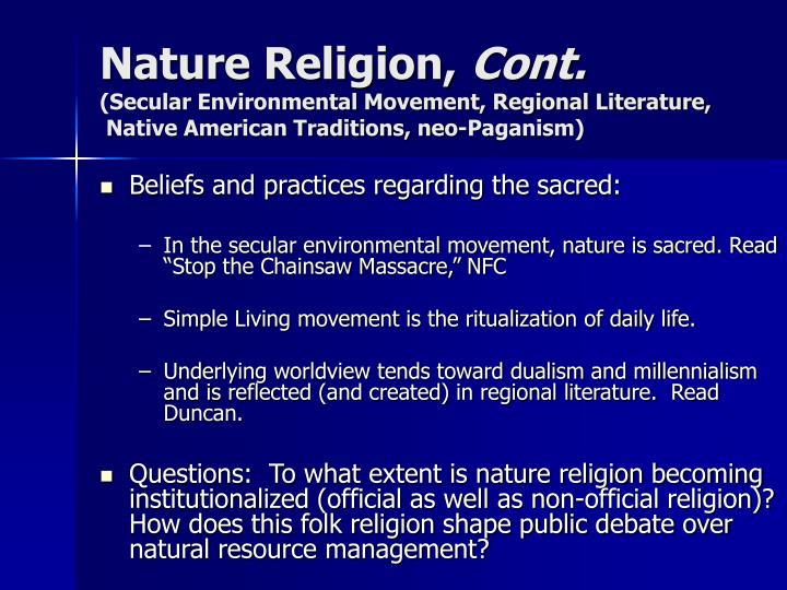 Nature Religion,