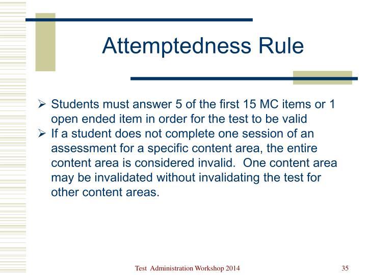 Attemptedness Rule