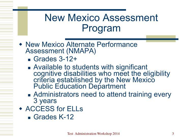 New mexico assessment program1