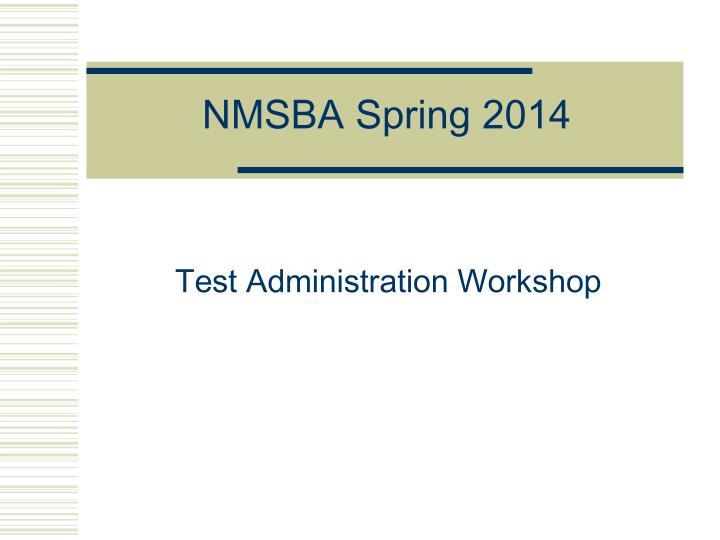 Nmsba spring 2014