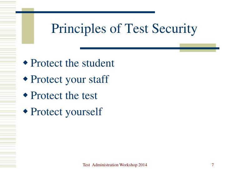Principles of Test Security