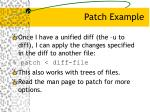 patch example