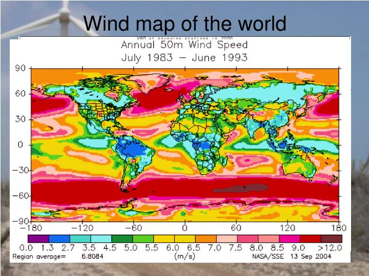 Wind map of the world
