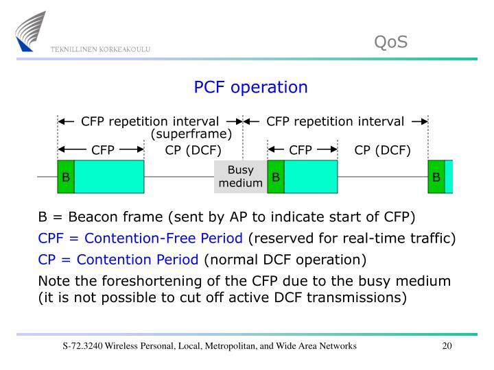 PCF operation