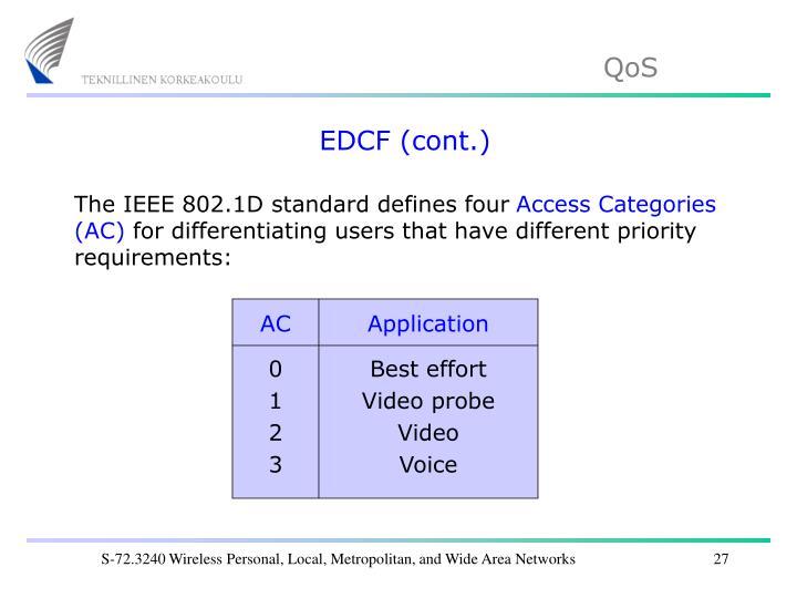 EDCF (cont.)