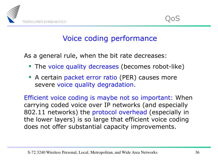 Voice coding performance