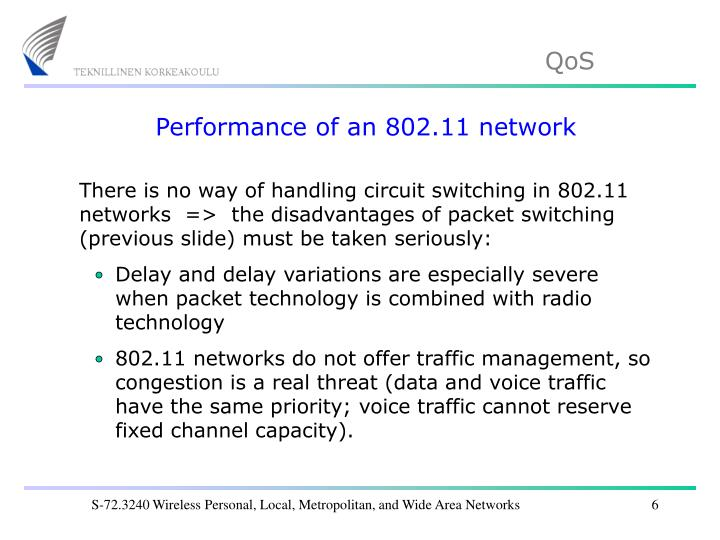 Performance of an 802.11 network