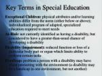 key terms in special education