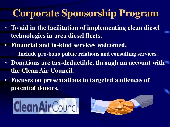 Corporate Sponsorship Program