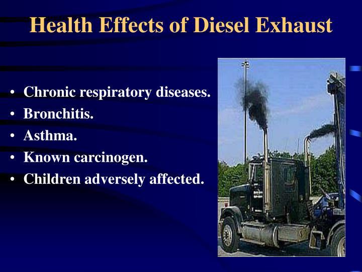 Health Effects of Diesel Exhaust