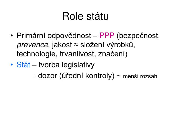 Role st tu