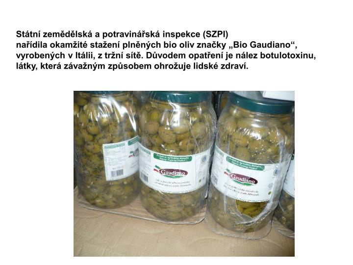 Státní zemědělská a potravinářská inspekce (SZPI)