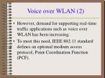 voice over wlan 2