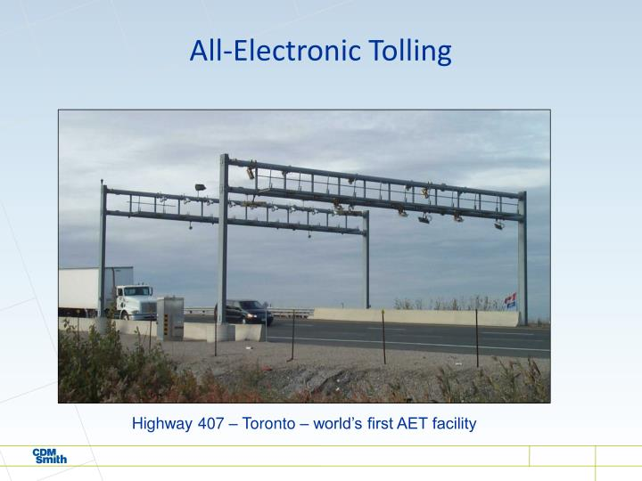 All-Electronic Tolling