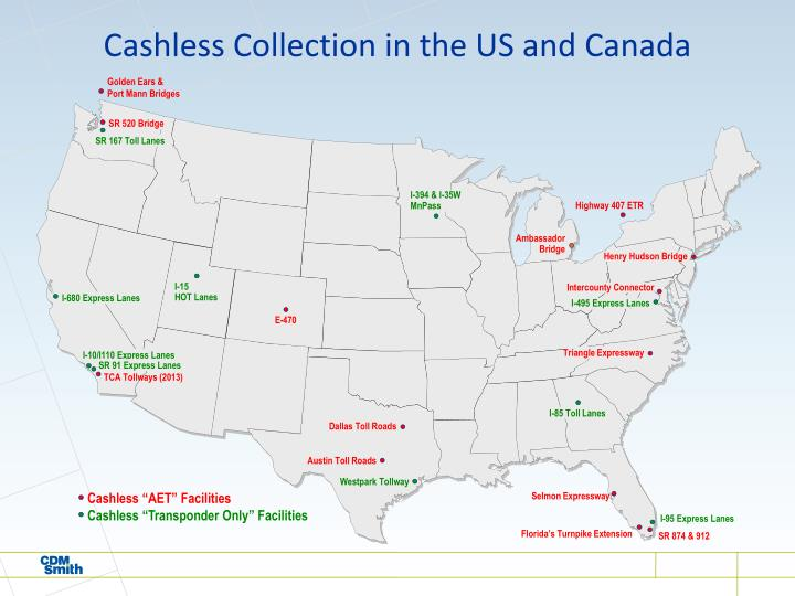 Cashless Collection in the US and Canada