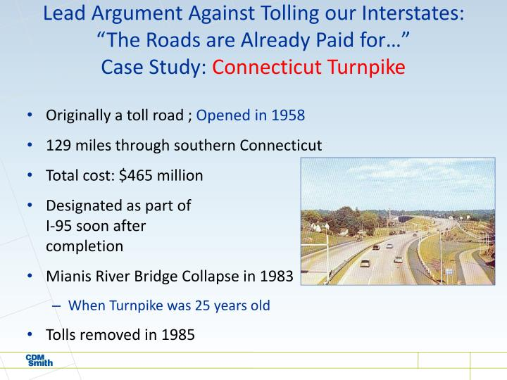 Lead Argument Against Tolling our Interstates: