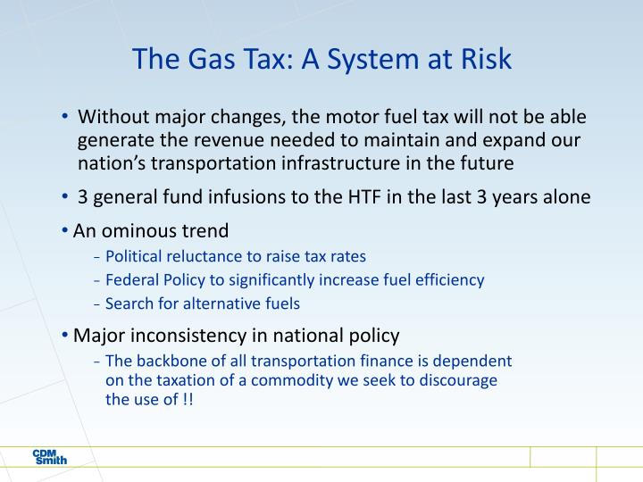 The gas tax a system at risk
