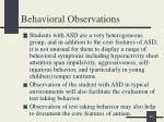 behavioral observations