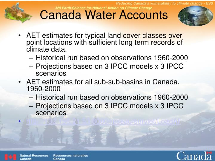Canada water accounts