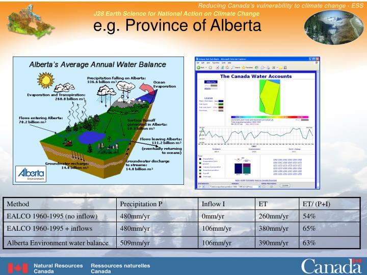 e.g. Province of Alberta