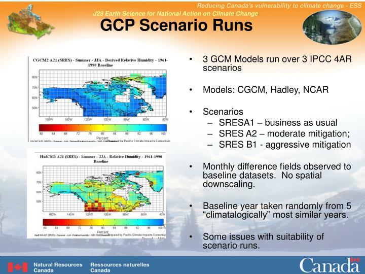 GCP Scenario Runs