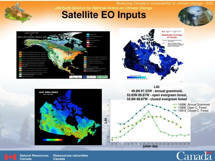 Satellite EO Inputs