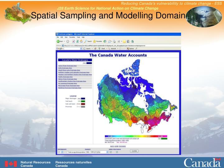 Spatial sampling and modelling domain
