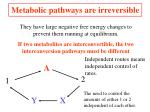 metabolic pathways are irreversible