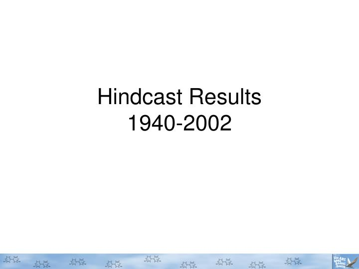 Hindcast Results