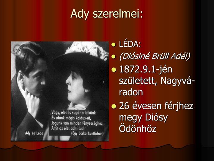 Ady szerelmei: