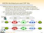 ason architecture and oif ias