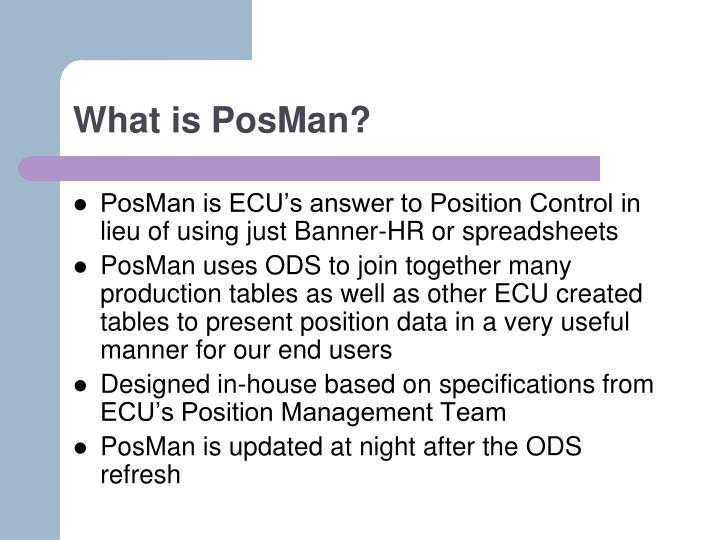 What is posman