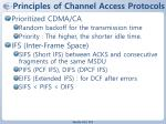 principles of channel access protocols