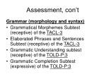 assessment con t2