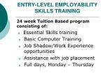 entry level employability skills training