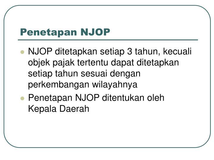 Penetapan NJOP