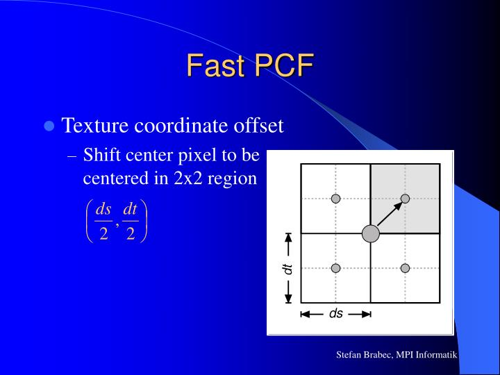 Fast PCF